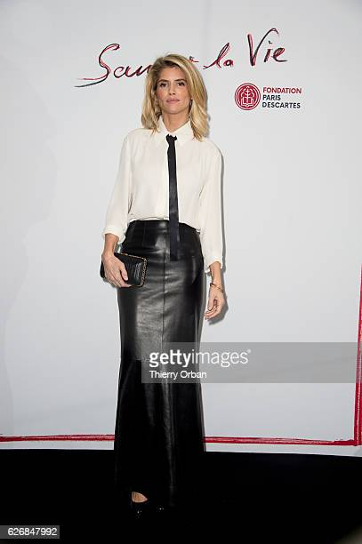 Alice Taglioni attends the diner 'sauver la vie' Eric Pfrunder Hosts 'Sauver La Vie' Diner for Paris Descartes Fondation at Pavillon Ledoyen on...