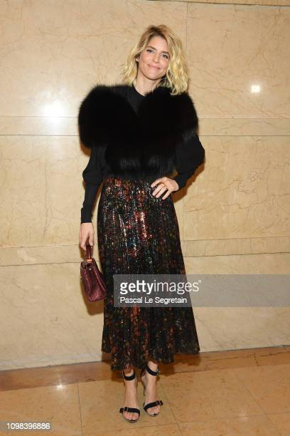 Alice Taglioni attends the Elie Saab Haute Couture Spring Summer 2019 show as part of Paris Fashion Week on January 23 2019 in Paris France