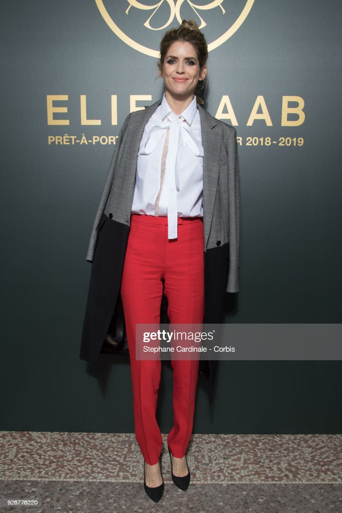 Alice Taglioni attends the Elie Saab show as part of the Paris Fashion Week Womenswear Fall/Winter 2018/2019 on March 3, 2018 in Paris, France.