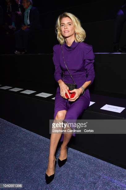 Alice Taglioni attends the ETAM show as part of the Paris Fashion Week Womenswear Spring/Summer 2019 on September 25 2018 in Paris France