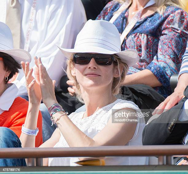 Alice Taglioni attends the French open at Roland Garros on June 3 2015 in Paris France