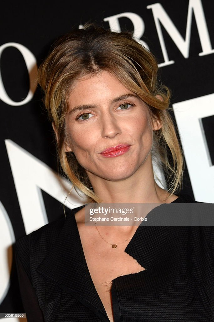 Alice Taglioni attends the Giorgio Armani Prive show as part of Paris Fashion Week Haute Couture Spring/Summer 2014, at Palais de tokyo in Paris.