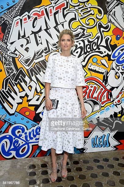 Alice Taglioni attends the Montblanc Urban Spirit Launch on June 21 2016 in Paris France