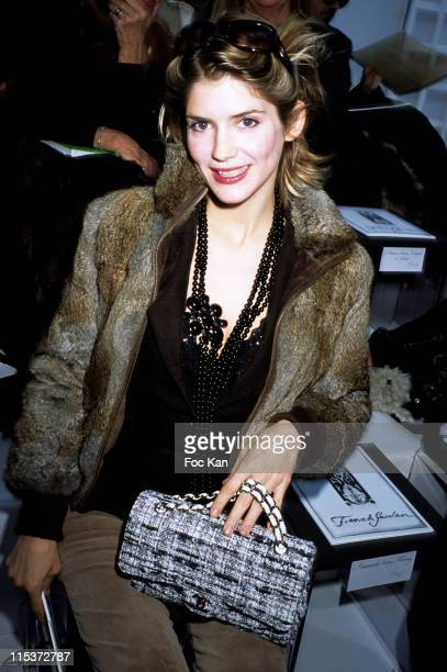 Alice Taglioni during Paris Fashion Week Haute Couture Spring/Summer 2005 Chanel at Front Row Ateliers Berthier in Paris France