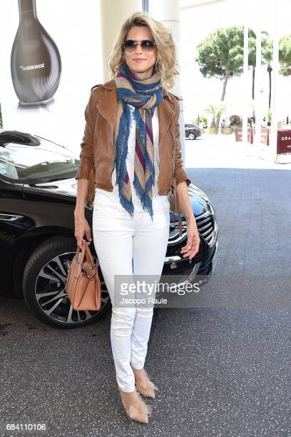 Alice Taglioni is spotted leaving Hotel Martinez during the 70th annual Cannes Film Festival at on May 17 2017 in Cannes France