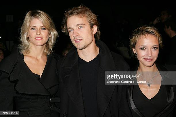 Alice Taglioni Jocelyn Quivrin and Helene de Fougerolles attend the Christian Dior readytowear SpringSummer 2006 fashion show