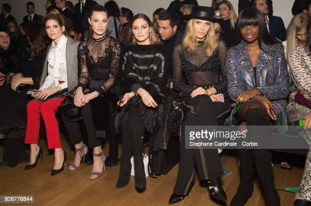 Alice Taglioni Sveva Alviti Olivia Palermo Elena Perminova and Karidja Toure attend the Elie Saab show as part of the Paris Fashion Week Womenswear...