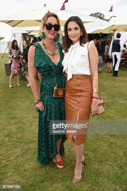 Alice Temperley and Astrid Munoz attend the Cartier Queen's Cup Polo at Guards Polo Club on June 17 2018 in Egham England