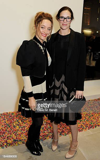 Alice Temperley and Claire Neate James attend a private view of Damien Hirst And Felix GonzalezTorres's exhibition Candy at Blain Southern on October...