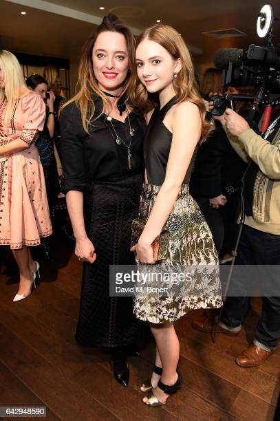 Alice Temperley and Emilia Jones attend the Temperley London FW 17 Fashion Show on February 19 2017 in London England