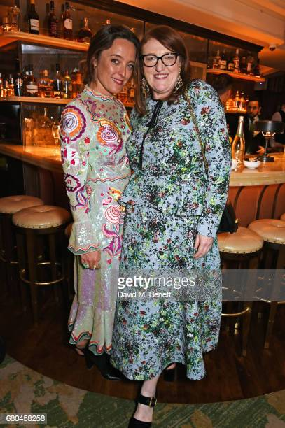 Alice Temperley and Glenda Bailey attend a combined celebratory VIP dinner marking The Ivy's centenary year and 150 years of Harper's Bazaar...
