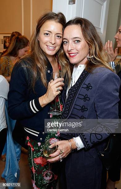 Alice Temperley and guest attend Vogue Voice of a Century book launch at Matches Fashion on September 20, 2016 in London, England.
