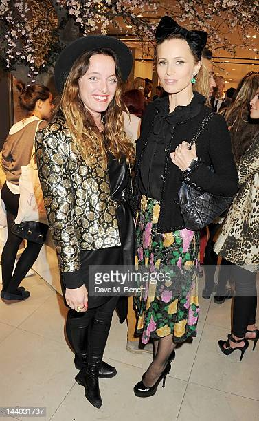 Alice Temperley and Laura Bailey attend the launch of the new John Lewis Beauty Hall Oxford Street on May 8 2012 in London England