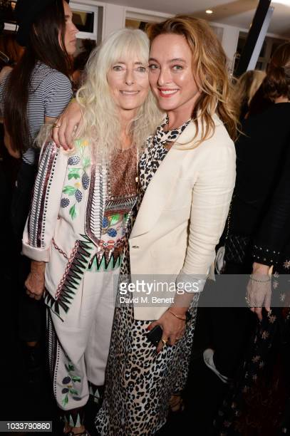 Alice Temperley and mother Diana Temperley pose backstage at the Temperley London SS19 catwalk show on September 15 2018 in London England