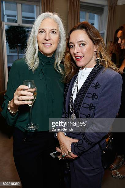 Alice Temperley and Ruth Chapman attend Vogue Voice of a Century book launch at Matches Fashion on September 20, 2016 in London, England.