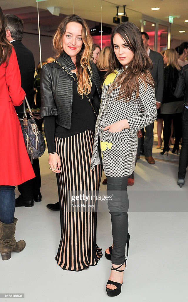 Alice Temperley and Tallulah Harlech attend the opening of the Conde Nast College of Fashion and Design on April 30, 2013 in London, England.
