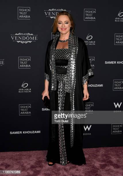 Alice Temperley attends Fashion Trust Arabia Gala at the Fire Station on March 28, 2019 in Doha, Qatar.