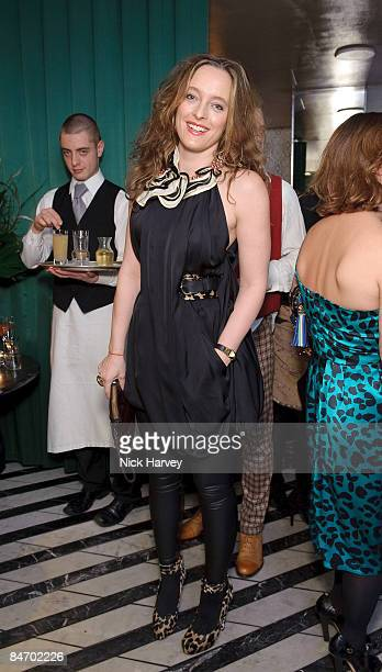 Alice Temperley attends Vogue's dinner hosted by Alexandra Shulman and Nick Jones at Cecconi's on February 6, 2009 in London.