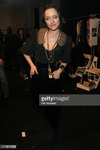 Alice Temperley designer during Mercedes Benz Fashion Week Fall 2007 Temperley London Front Row and Backstage at The Promenade Bryant Park in New...