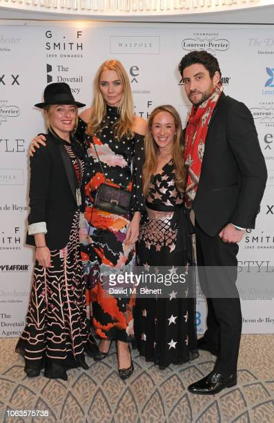 Alice Temperley Jodie Kidd Guest and Joseph Bates attend the Walpole British Luxury Awards 2018 at The Dorchester on November 19 2018 in London...