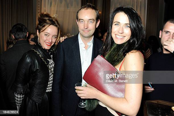 Alice Temperley Tom Mullion and Emily Sheffield attend the London EDITION and NOWNESS dinner to celebrate ON COLLABORATION on October 14 2013 in...