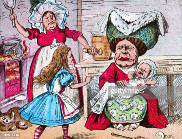 'Alice the Duchess and the Baby' c1910 From Alice in Wonderland by Lewis Carroll [W Butcher Sons London c1910]Artist John Tenniel