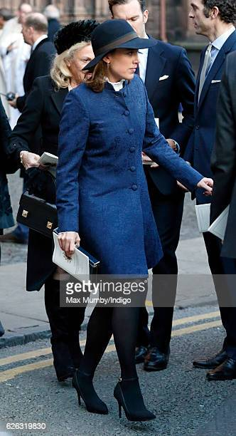 Alice van Cutsem attends a Memorial Service for Gerald Grosvenor 6th Duke of Westminster at Chester Cathedral on November 28 2016 in Chester England...