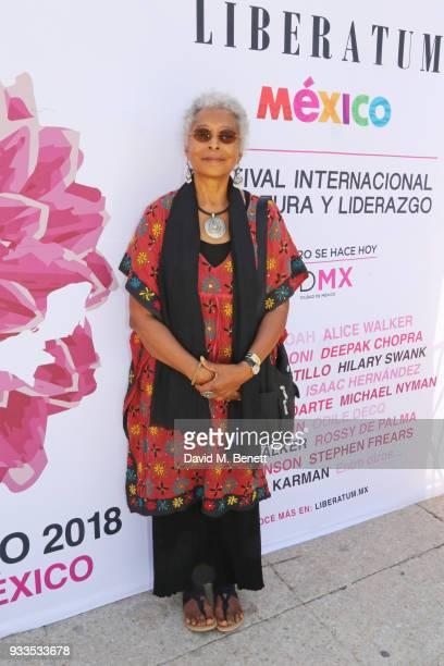 Alice Walker attends day two of the Liberatum Mexico Festival 2018 at Monumento a la Revolucion on March 17 2018 in Mexico City Mexico