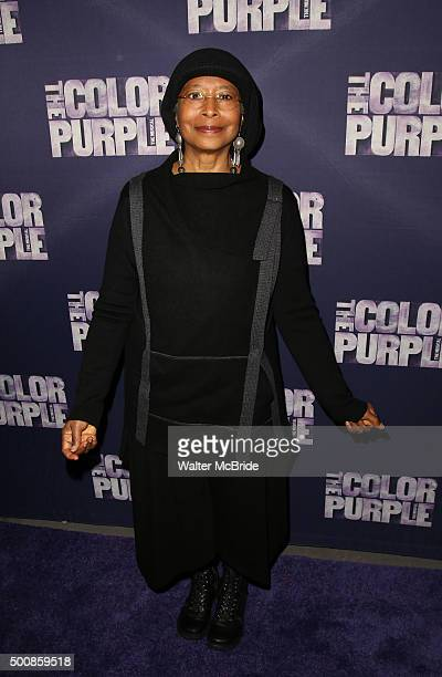 Alice Walker attends the Broadway Opening Night Performance of 'The Color Purple' at the Bernard B Jacobs Theatre on December 10 2015 in New York City