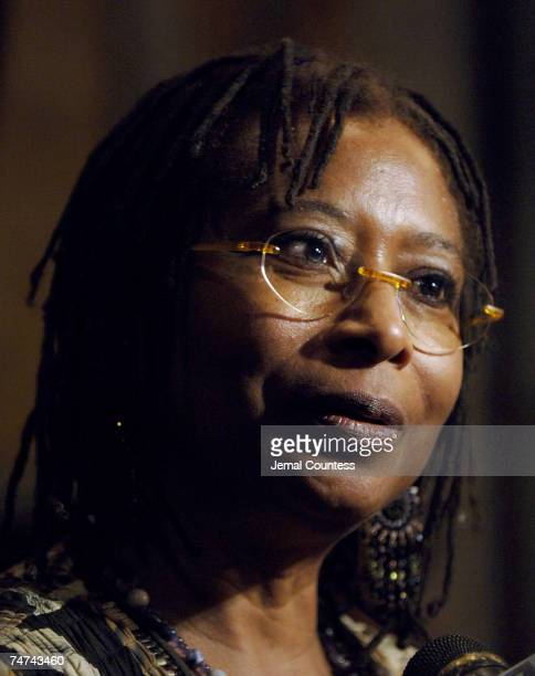 Alice Walker author of 'The Color Purple' at the The New York Public Library in New York City New York