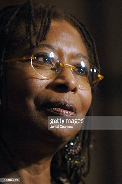 Alice Walker author of 'The Color Purple' during 'The Color Purple' Broadway Opening Night After Party at The New York Public Library in New York...