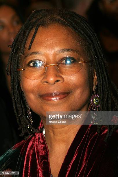 Alice Walker during 'The Color Purple' Broadway Opening Night Arrivals at The Broadway Theatre in New York City New York United States