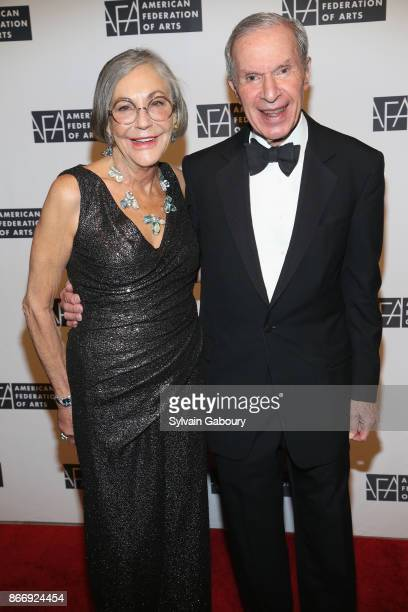 Alice Walton and Charles Diker attend the American Federation of Arts 2017 Gala and Cultural Leadership Awards at The Metropolitan Club on October 26...