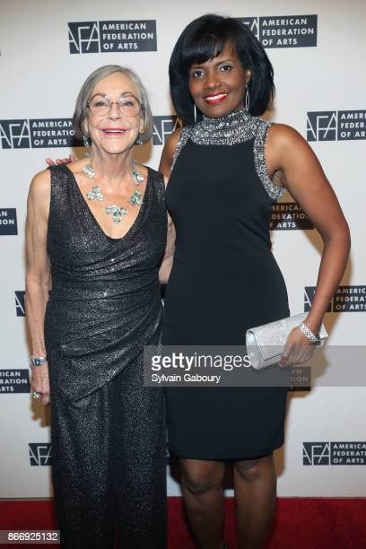 Alice Walton and Pauline Willis attend the American Federation of Arts 2017 Gala and Cultural Leadership Awards at The Metropolitan Club on October...