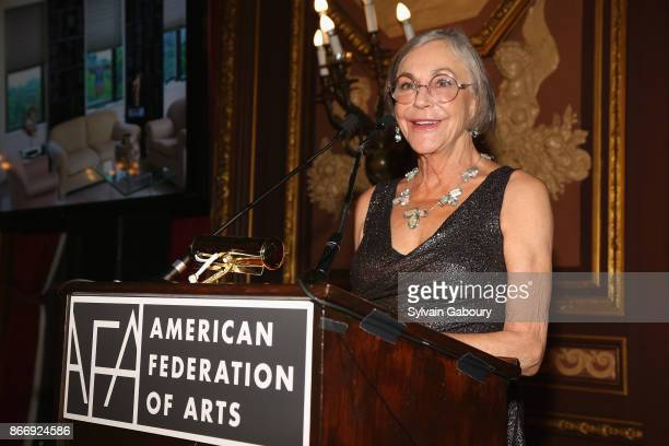 Alice Walton attends the American Federation of Arts 2017 Gala and Cultural Leadership Awards at The Metropolitan Club on October 26 2017 in New York...