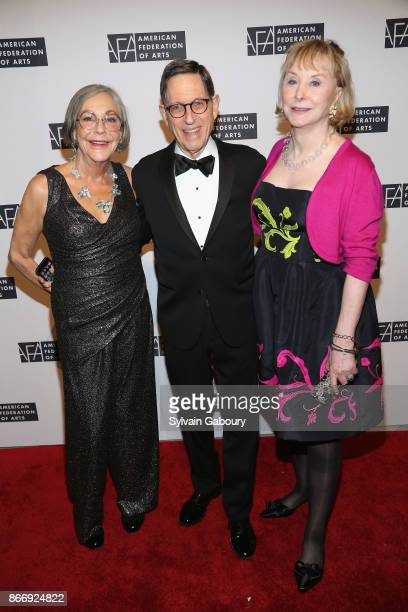 Alice Walton Fred Gans and Shelby Gans attend the American Federation of Arts 2017 Gala and Cultural Leadership Awards at The Metropolitan Club on...