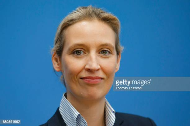 Alice Weidel, campaign leader of Germany's right-wing populist Alternative for Germany party for the next German general election, speaks at...