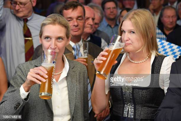 Alice Weidel coBundestag faction leader of the rightwing Alternative for Germany political party and Katrin EbnerSteiner Deputy Chairman of the...