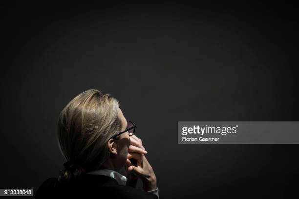 Alice Weidel leader of the AfD Bundestag faction is pictured during the meeting of the Bundestag on February 01 2018 in Berlin Germany