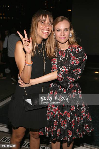 Alice Winocour and Diane Kruger attend The Cinema Society Chopard with Line 39 and Qui Host the After Party for IFC Films' 'Disorder' at The Jimmy at...