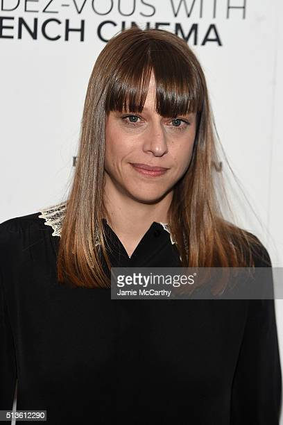 Alice Winocour attends the 2016 RendezVous With French Cinema 'Valley Of Love' Opening Night Screening at Walter Reade Theater on March 3 2016 in New...