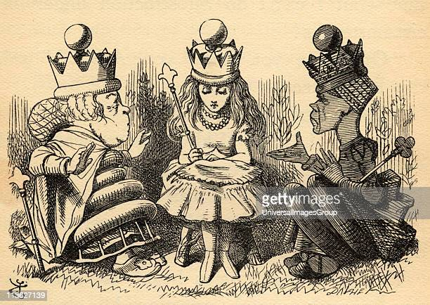 Alice with The White Queen and The Red QueenIllustration by Sir John Tenniel 18201914 From the book 'Through the LookingGlass and What Alice Found...
