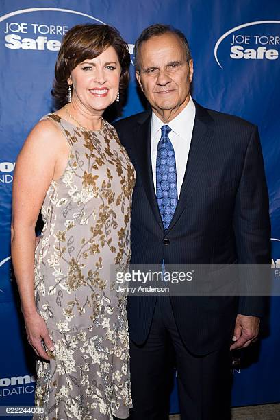 Alice Wolterman and Joe Torre attend 14th Annual Joe Torre Safe At Home Foundation Celebrity Gala at Cipriani 25 Broadway on November 10 2016 in New...