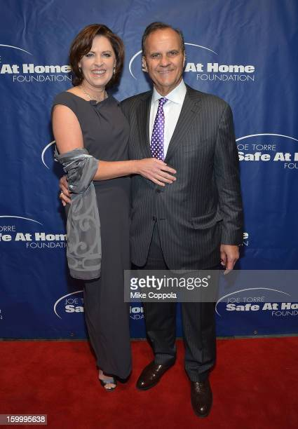 Alice Wolterman and Joe Torre attends his Safe At Home Foundation's 10th Anniversary Gala at Pier 60 on January 24 2013 in New York City