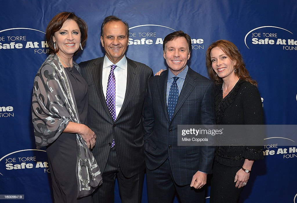 Alice Wolterman, Joe Torre, Sportscaster Bob Costas, and Jill Sutton attend Joe Torre's Safe At Home Foundation's 10th Anniversary Gala at Pier 60 on January 24, 2013 in New York City.