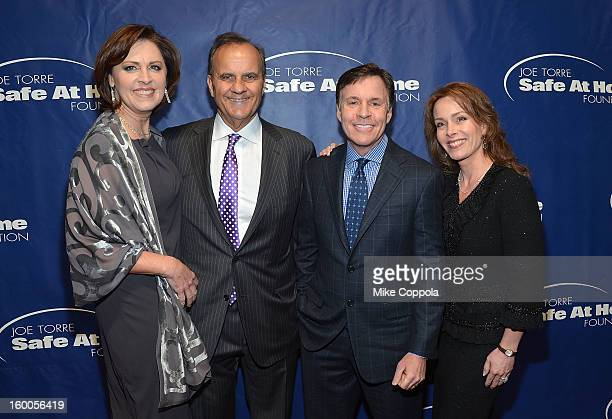 Alice Wolterman Joe Torre Sportscaster Bob Costas and Jill Sutton attend Joe Torre's Safe At Home Foundation's 10th Anniversary Gala at Pier 60 on...