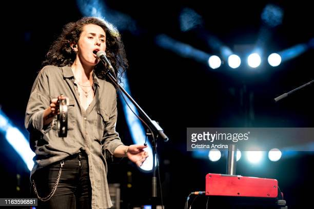 Alice Wonder, chorist of Xoel López, perfoms on stage on July 21, 2019 in Santiago de Compostela, Spain.