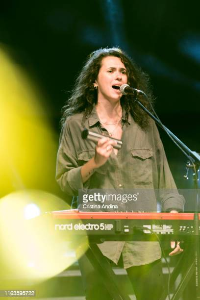 Alice Wonder, keyboard and voice of Xoel López perfoms on stage on July 21, 2019 in Santiago de Compostela, Spain.