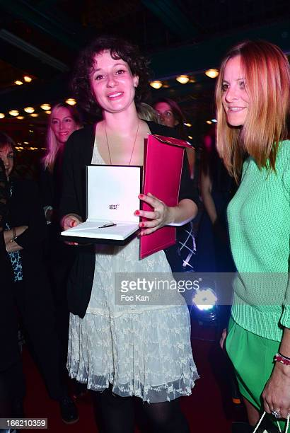 Alice Zeniter and Violante Avogadro from Mont Blanc attend La Closerie Des Lilas Literary Awards 2013 6th Edition At La Closerie Des Lilas on April 9...
