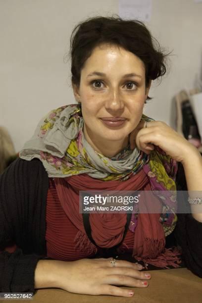 Alice Zeniter romanciere et dramaturge francaise lors de la 32eme foire du livre de Brive a Brive la Gaillarde en France le 9 novembre 2013